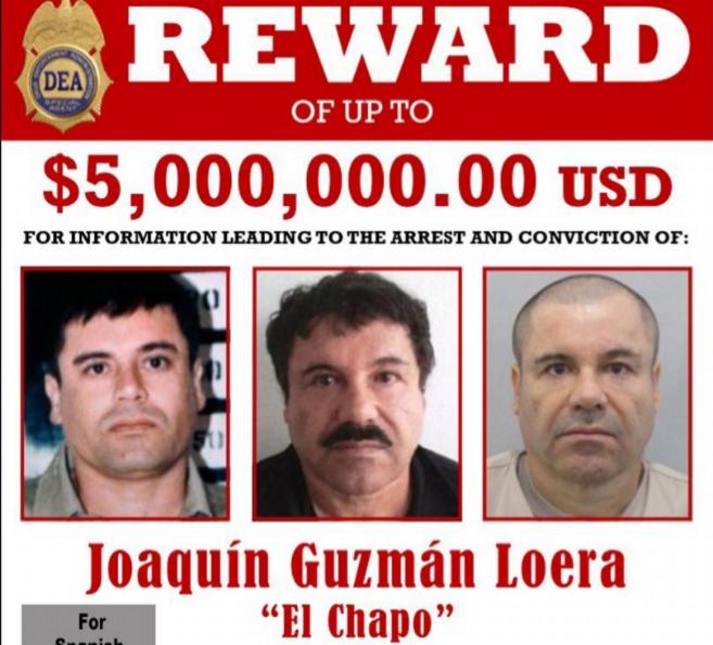 Recompensa por el Chapo Guzmán