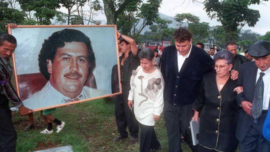 entierro de Pablo Escobar