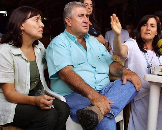 Juan David Ochoa con su familia