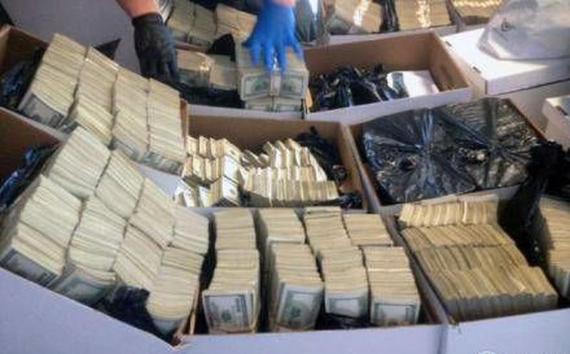 Dinero decomisado al Cártel de Sinaloa