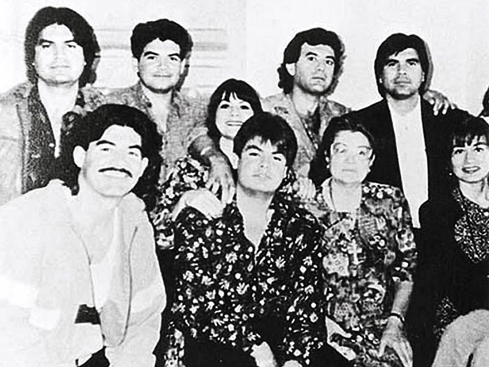 Ramon Arellano Felix junto a su familia