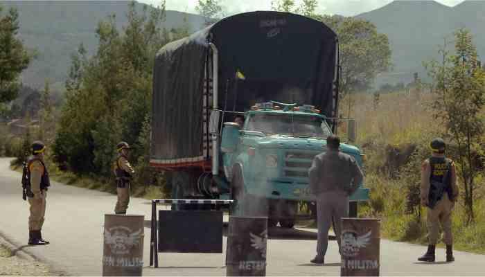 detencion del camion